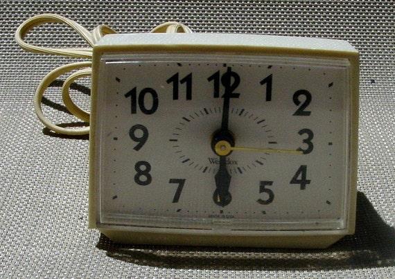 Vintage Westclox Alarm Clock Retro Modern Minimalist
