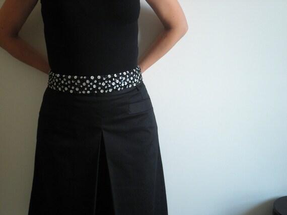 Sequined belt, Black & white