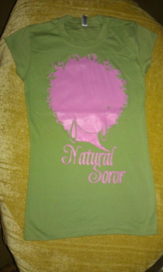 ALPHA KAPPA ALPHA Natural Soror Shirt (Size Small)