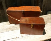 Two Vintage Wooden Tool Boxes.