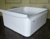 White Enamel Vegtable Crisper Drawer from an Old Refridgerator