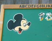 Child's Two Sided Mickey Mouse and  Disney Characters Chalkboard 24 x 36