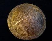 Gold shade...Round Sinamay base-10cm