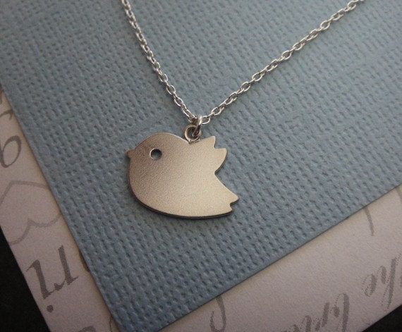 Sweet Little Sparrow Necklace - Sterling Silver Chain