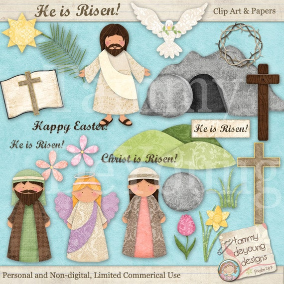 Easter clip art for kids easter digital papers religious easter clip art for kids easter digital papers religious christian easter for greeting cards scrapbooks gift tags sunday school 354 negle Choice Image