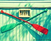 Wash Deck Boat oars fishing tackle Colorful Photography 5x7 Print