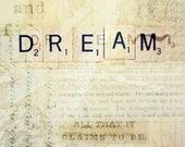 Dream Inspirational Scrabble Letter word Photography Art 8x10 Print