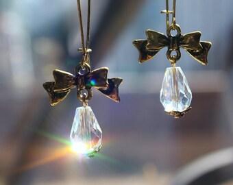 Swarovski Crystals dangle earrings, hoop earrings, dangle earrings, crystal earrings