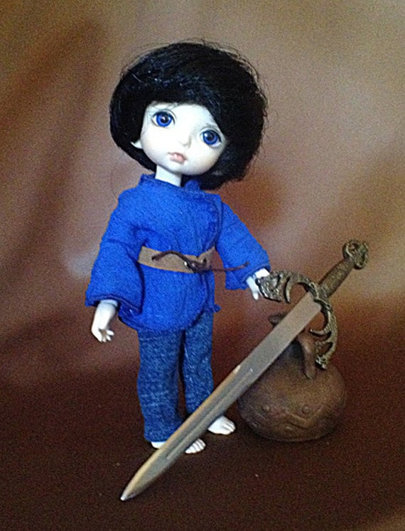 Blue Boy's Renfair Outfit for PukiFee / Lati Yellow / 16cm doll