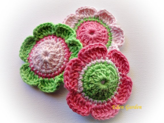 Candy  Crochet Flowers