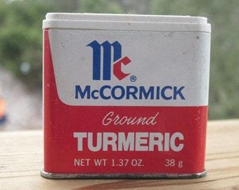 Vintage McCormick  Spice Tin with Turmeric
