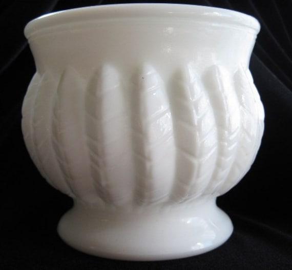 Vintage Randall Milk Glass Jardinière