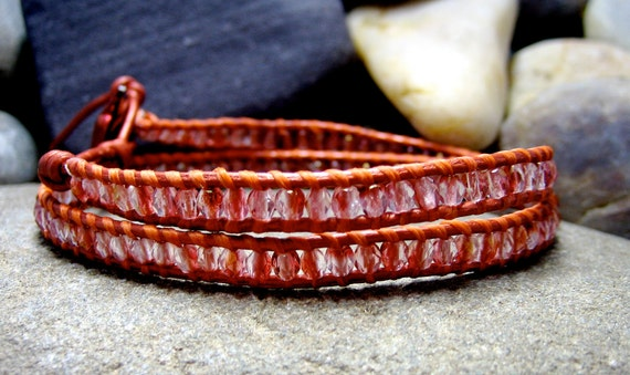 Peach Two Wrap Bracelet