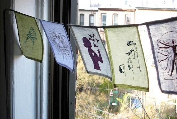 Inspirational Custom Screen Print Prayer Flags