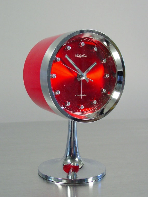 Mid Century Modern Table Clock By Rhythm Tulip Base Mod