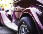 Classic Car Photo - The Color Purple - retro roadster hot rod 1950s antique automotive 8x12