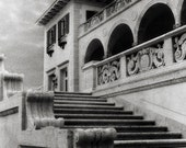 Philbrook Museum - Infrared Architecture Film Photo - stone grainy black and white fine art 8x12