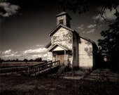 Christian Church - Large Format Fine Art Photography - old wood building religious spiritual 24x30