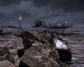 Industrial Fine Art Photograph Composite - Laid To Waste - post-apocalyptic future dystopia 16x20