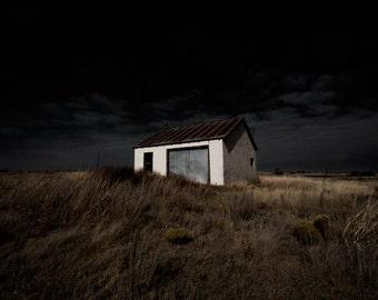 Fine Art Photograph - Shelter - rural americana texas country field storm farm 16x24