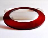 FREE SHIPPING - Plexiglass Jewellery - Fancy Plexi Bracelet (Dark Red / Circle) - gifts under 25