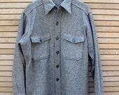 Vintage Woolrich Workshirt in Dark Grey Tweed