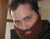 Handmade Crochet Beard, Add to Any Beanie or Hat, Hockey Play Off Beard, Any Size or Color Available