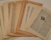 Dictionary Page Bundle Vintage Paper Ephemera Over 40 Pages Paper Arts Crafts Mixed Media Upcycle Repurpose