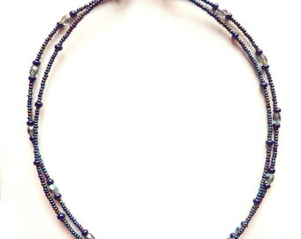 Double strand Milifiori glass necklace
