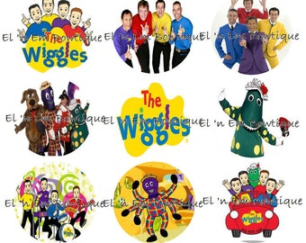 The Wiggles inspired 1 inch bottlecap image sheet