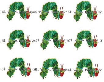 Hungry Caterpillar 1 inch bottlecap image sheet