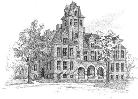 Riley School Print