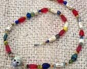 Dia de los Muertos beaded necklace