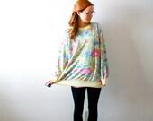 Vintage oversized floral sweatshirt