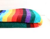 Vintage retro rainbow bohemian blanket