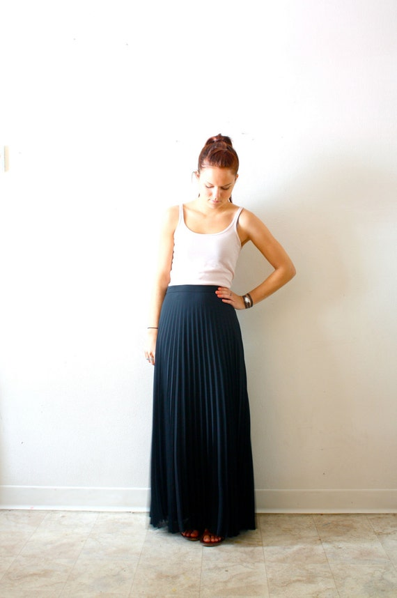 Vintage black maxi skirt