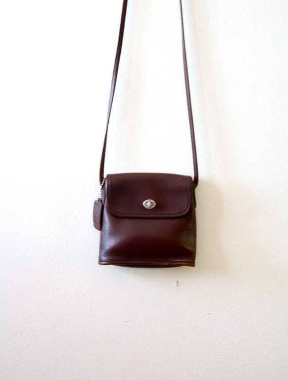 Vintage small brown coach