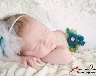 Vintage Milk. preemie or newborn tutu set. Comes with matching poof headband.