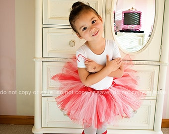 Fluffy tutu skirts. Comes in many colors and accented with a bow. Leotards not included.