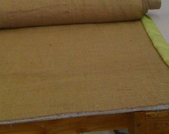 Burlap Custom Made Aisle Runner 50ft with Apple Green  satin border on both sides