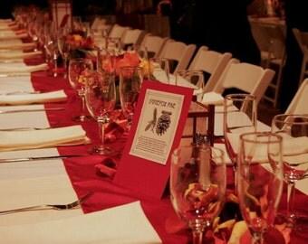 Custom Made  Red Satin Table Runner 108 x 16