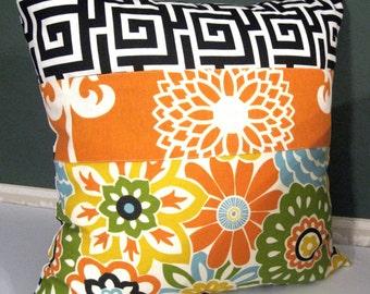 Confetti  orage black waverly Pillow Cover 18 X 18