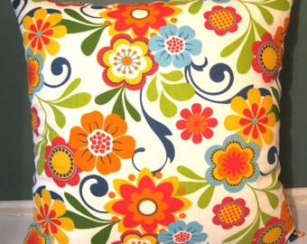 Floral Flair  Pillow Cover 18 X18
