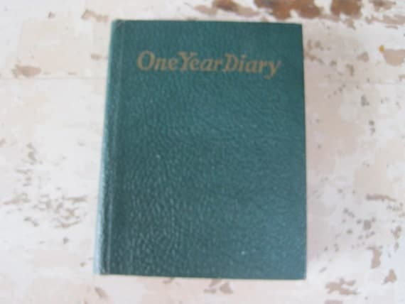 Vintage One Year Diary