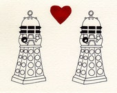 Daleks need love too - card