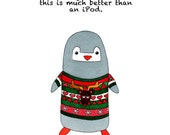 Penguin Christmas card - 5 pack