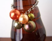 SALE - 20% PRICE REDUCTION - Pearlized Glass Bead Cluster Bottle Bracelet - Single