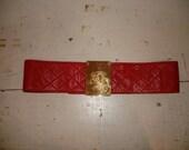 Vintage Red Chanel Belt Fabulous