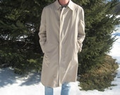 Vintage Biege Christian Dior Rain and Stain Overcoat