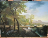 Oil Painting of Landscape With Cows - Custom Paintings